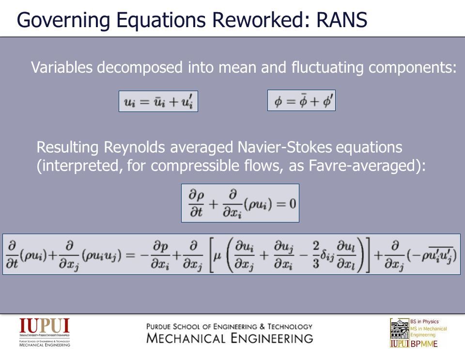 Governing Equations Reworked: RANS