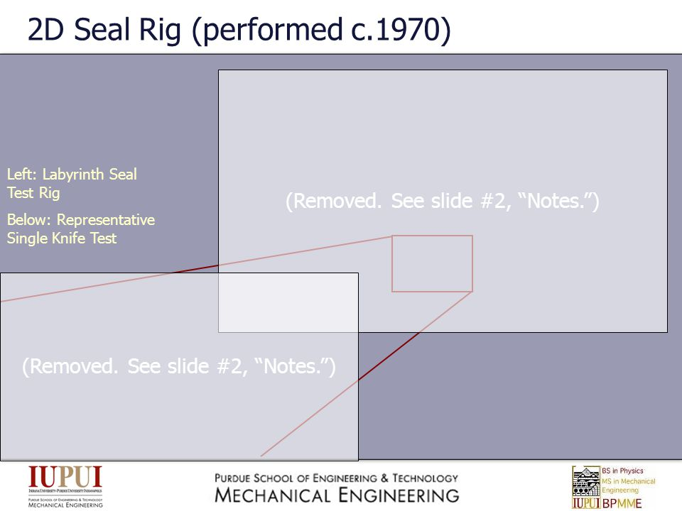 2D Seal Rig (performed c.1970)