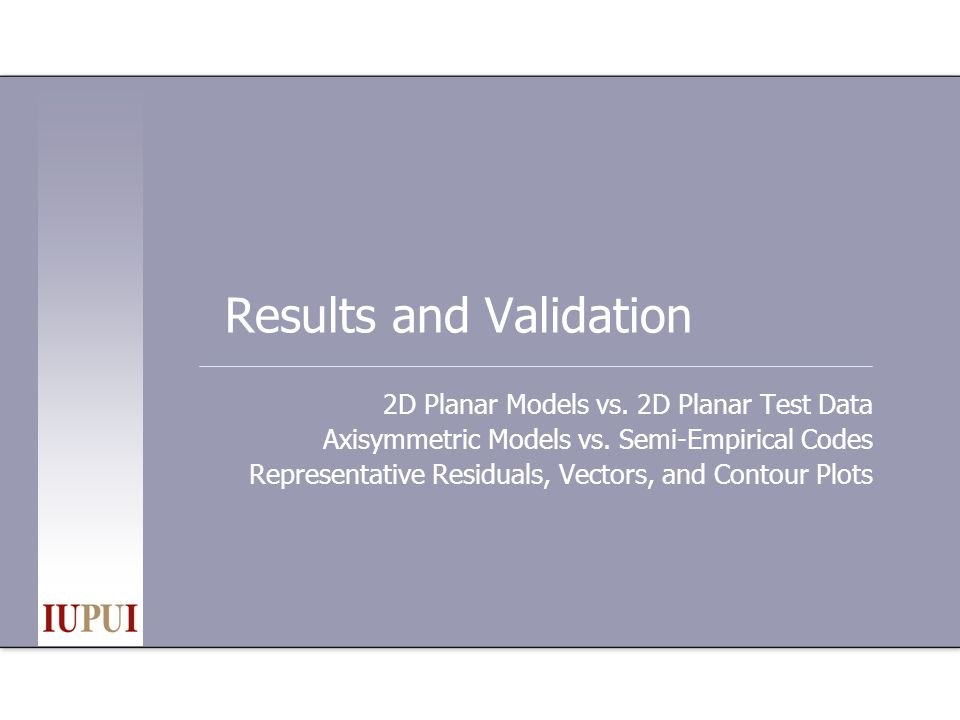 Results and Validation