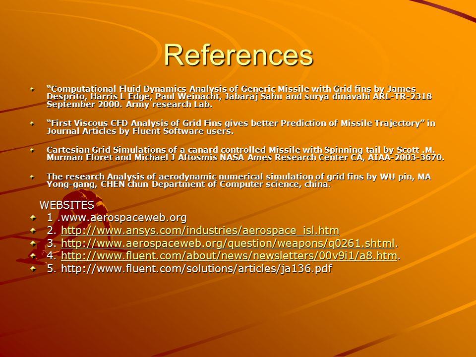 References 1 .www.aerospaceweb.org
