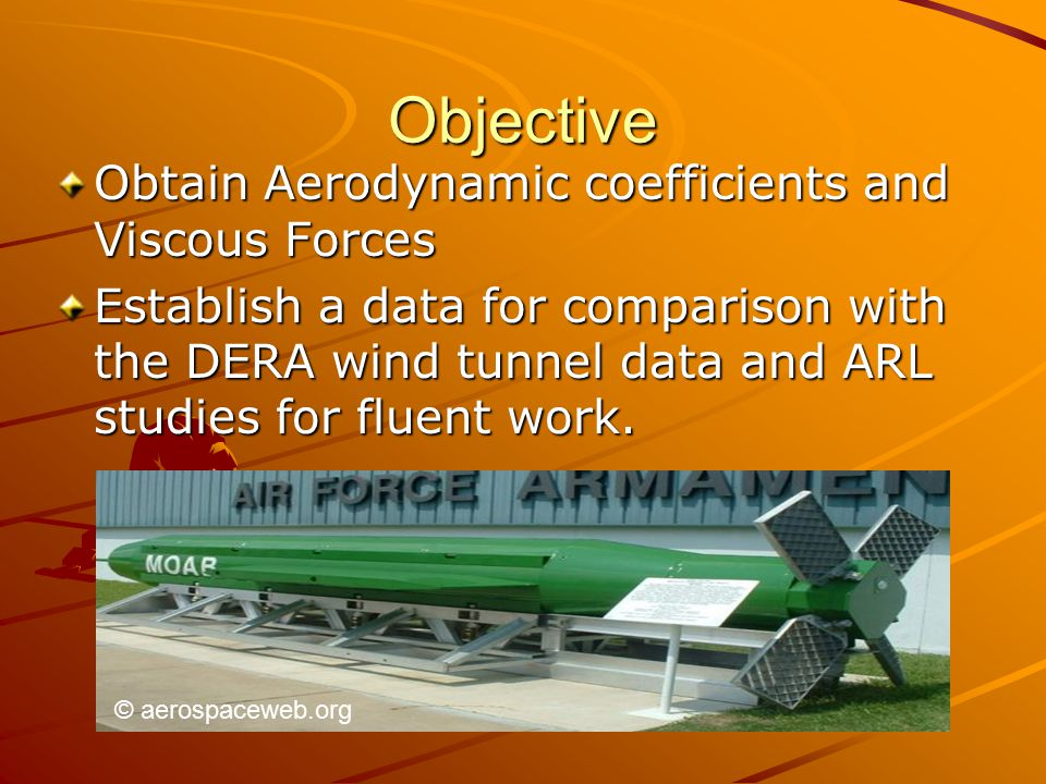 Objective Obtain Aerodynamic coefficients and Viscous Forces