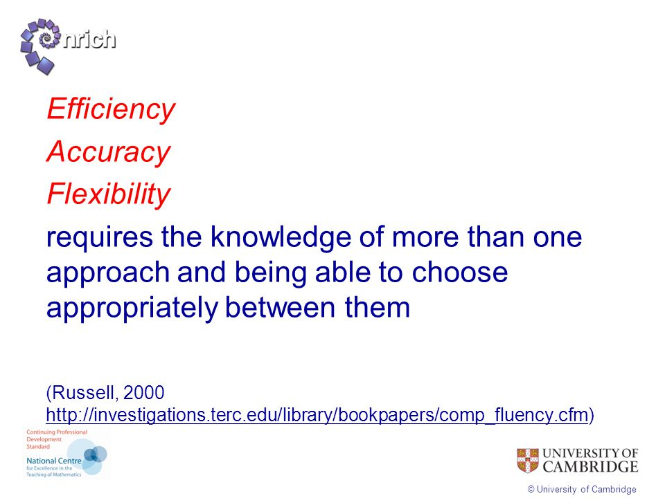 Efficiency Accuracy Flexibility