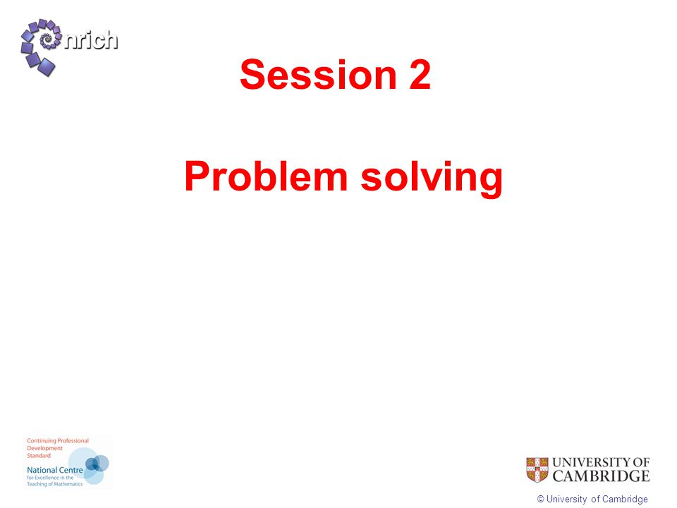 Session 2 Problem solving
