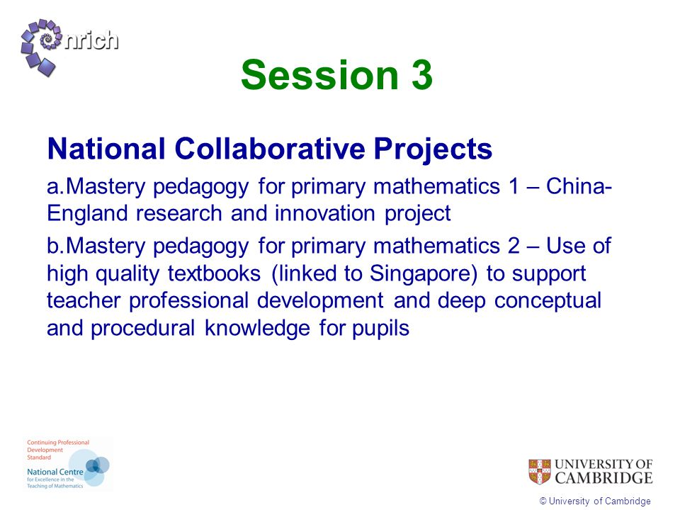 Session 3 National Collaborative Projects