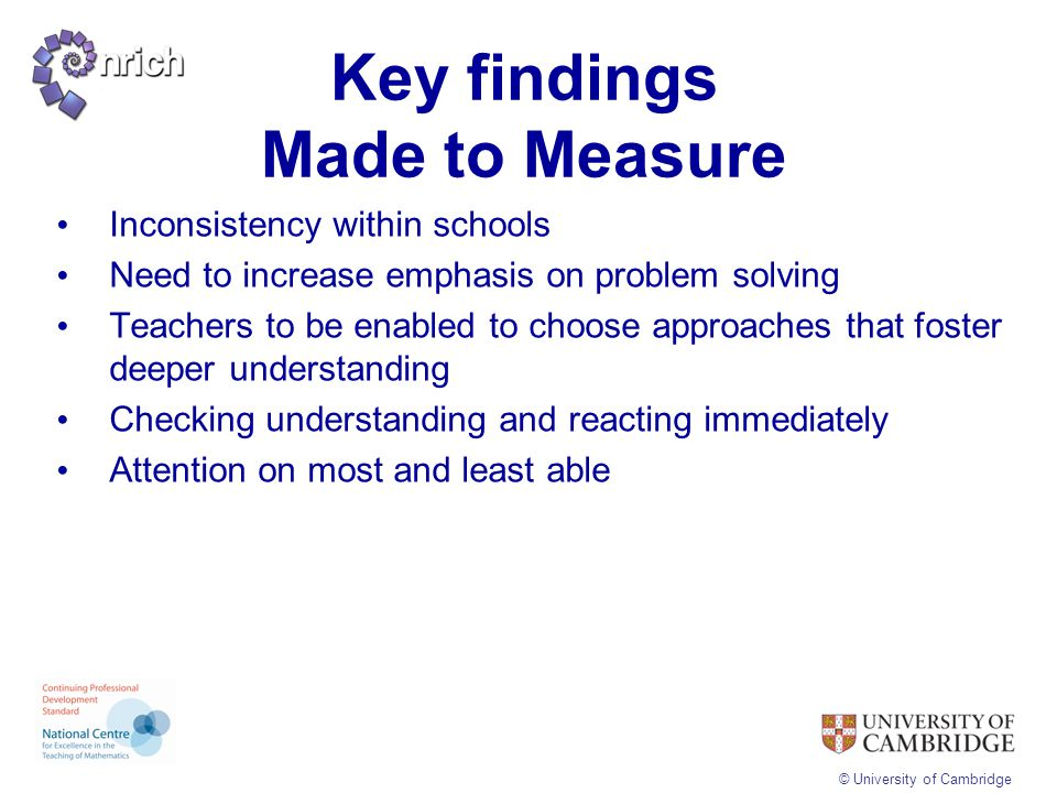 Key findings Made to Measure