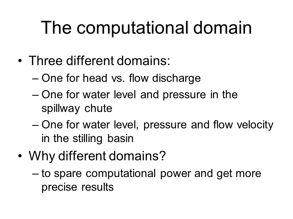 The computational domain