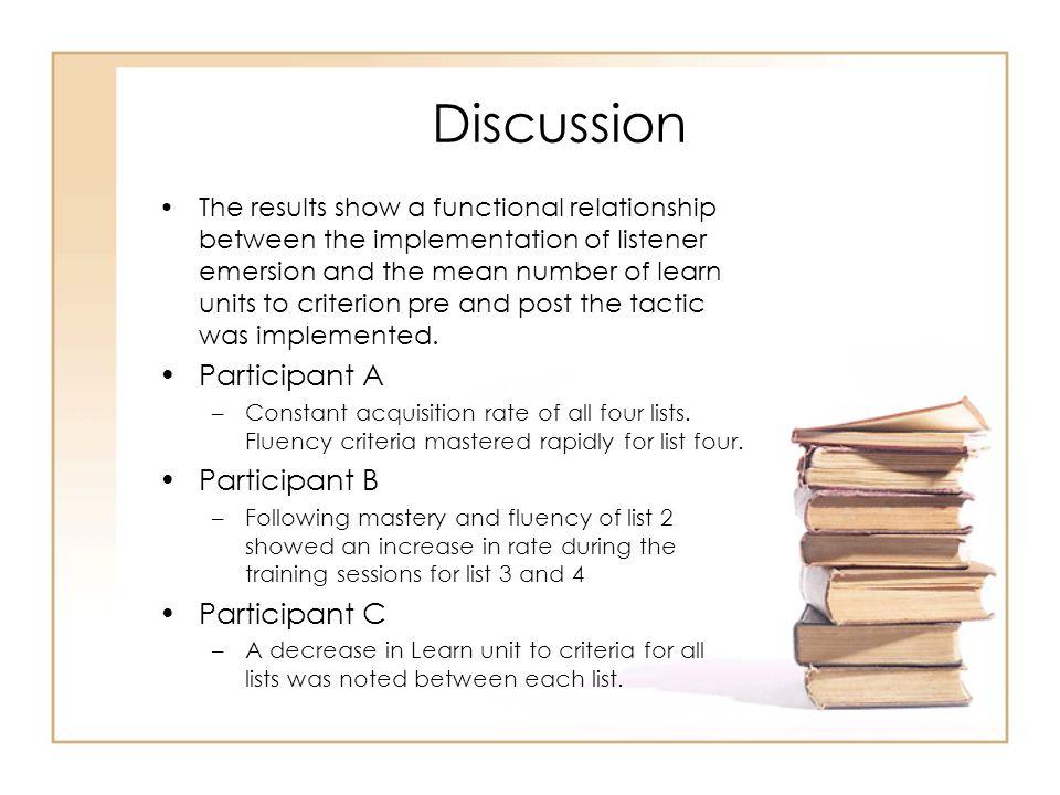 Discussion Participant A Participant B Participant C