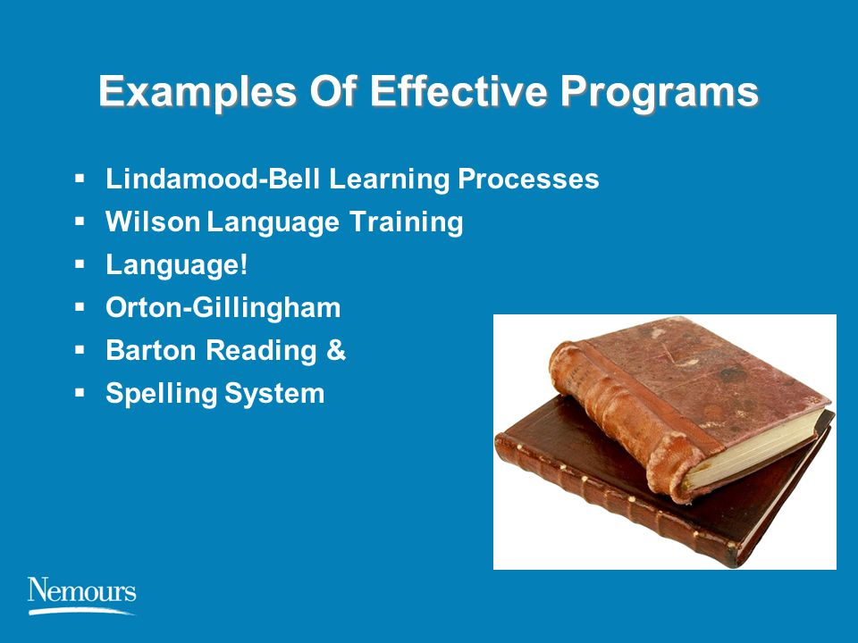 Examples Of Effective Programs