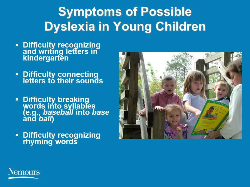 Symptoms of Possible Dyslexia in Young Children