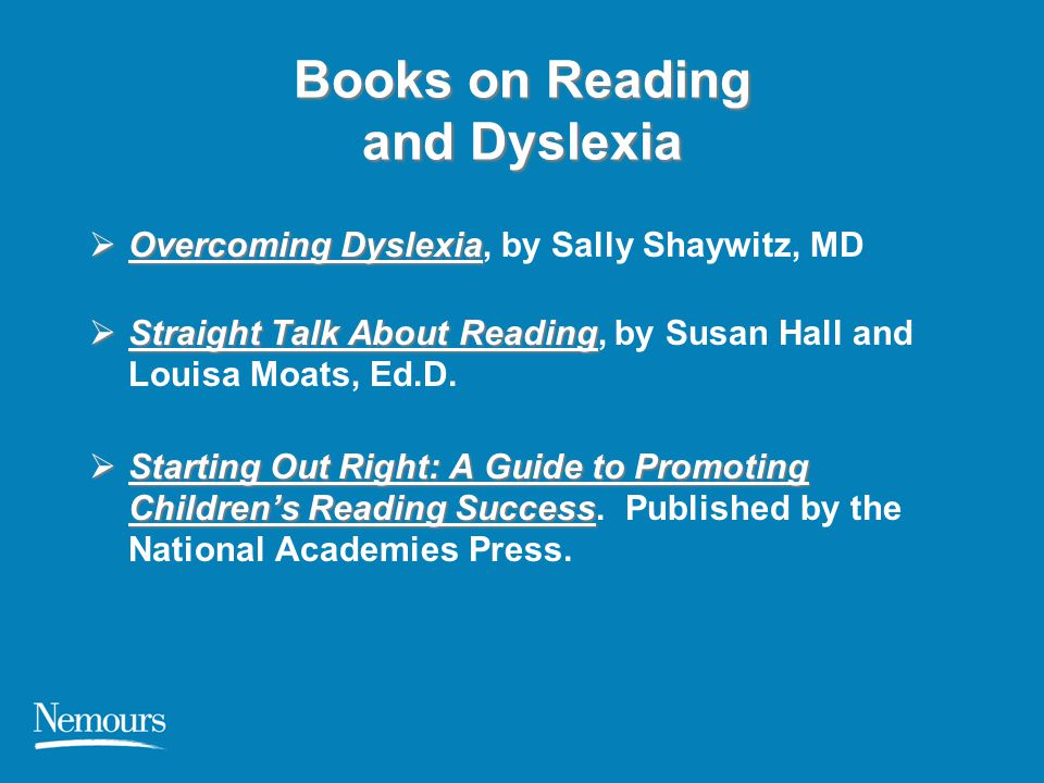 Books on Reading and Dyslexia