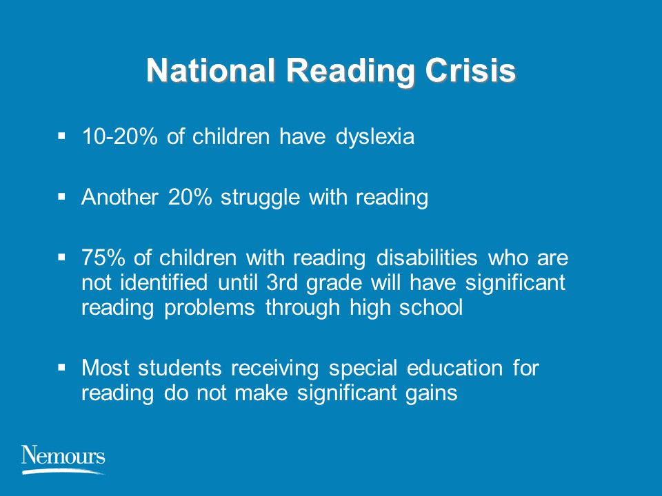 National Reading Crisis