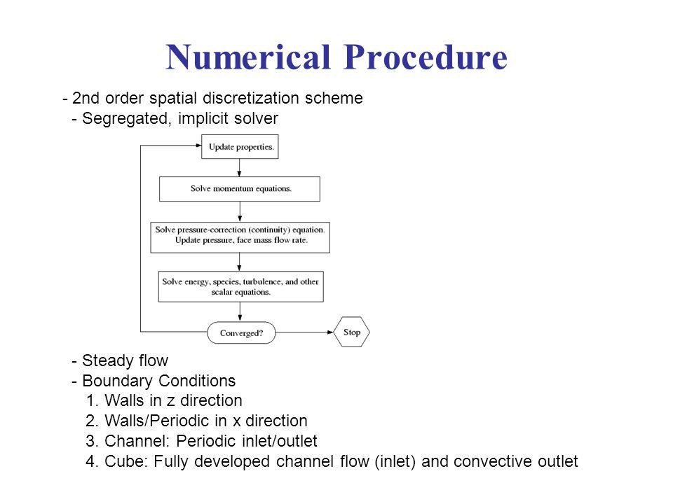 Numerical Procedure - 2nd order spatial discretization scheme