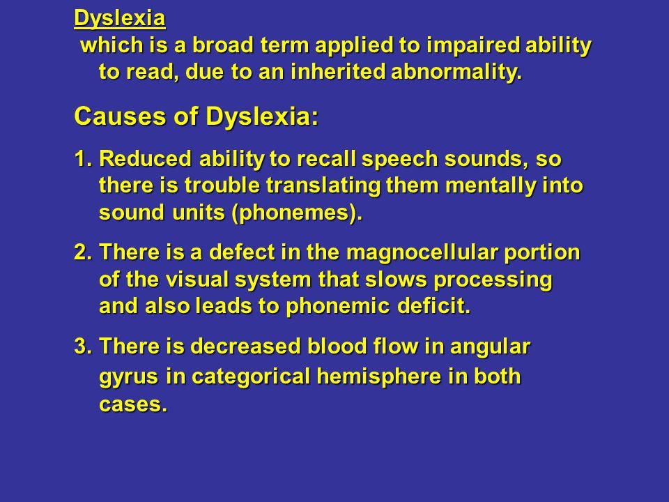 Causes of Dyslexia: Dyslexia