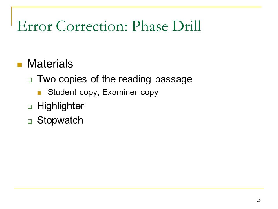 Error Correction: Phase Drill