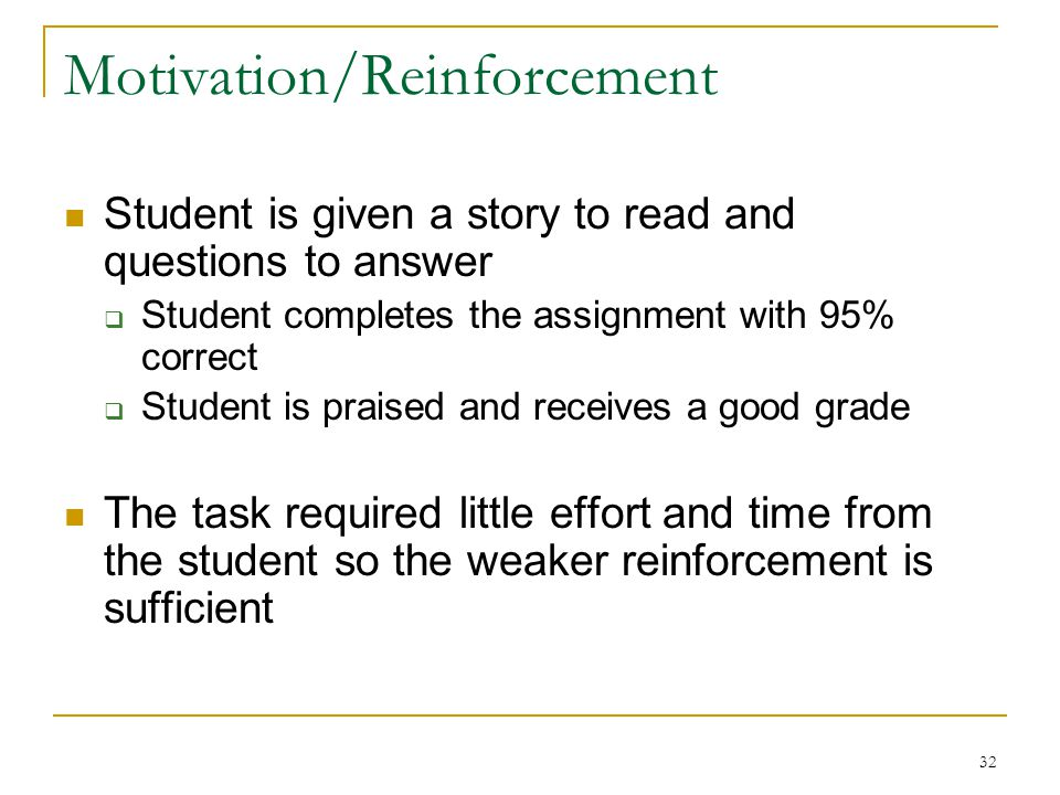 Motivation/Reinforcement