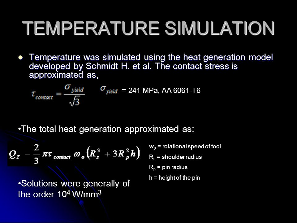 TEMPERATURE SIMULATION