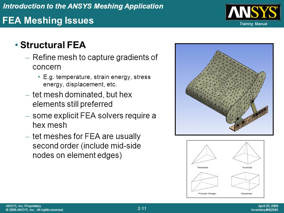 FEA Meshing Issues Structural FEA