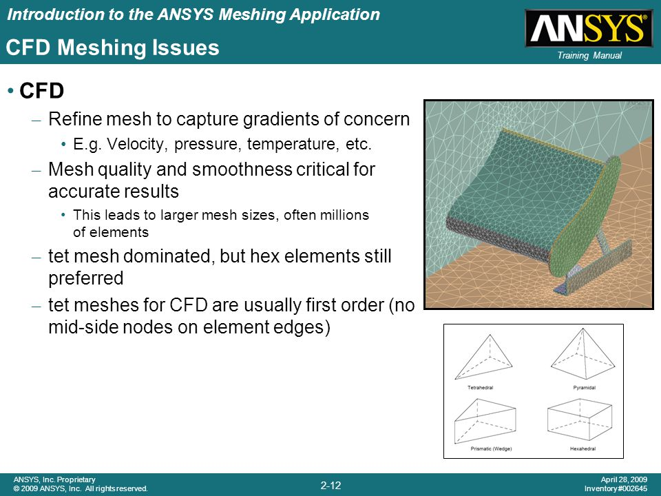 CFD Meshing Issues CFD Refine mesh to capture gradients of concern