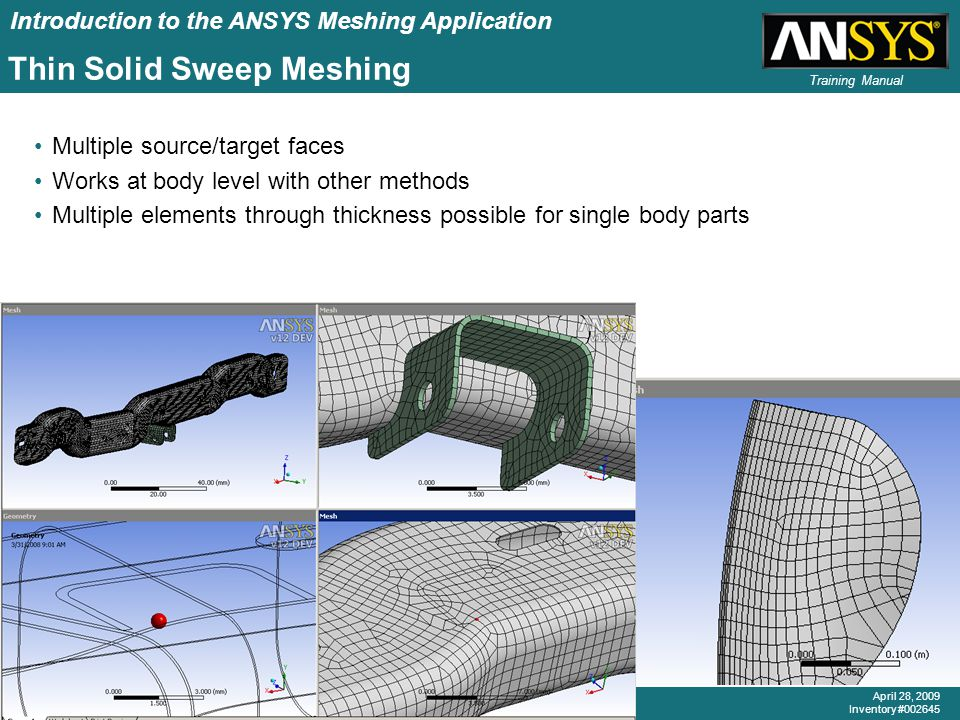 Thin Solid Sweep Meshing