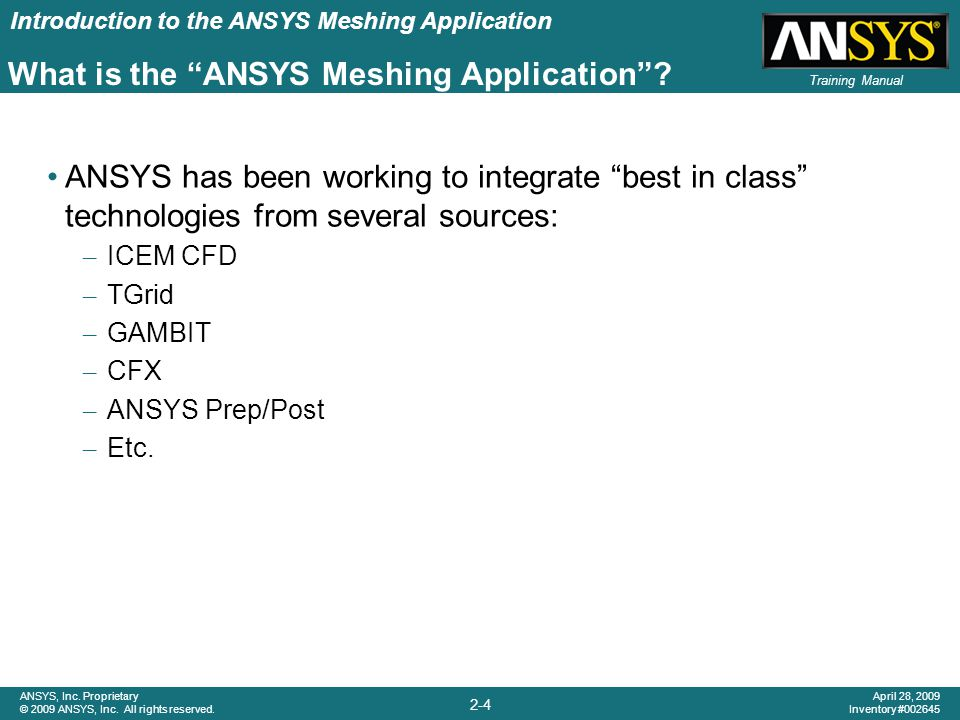 What is the ANSYS Meshing Application