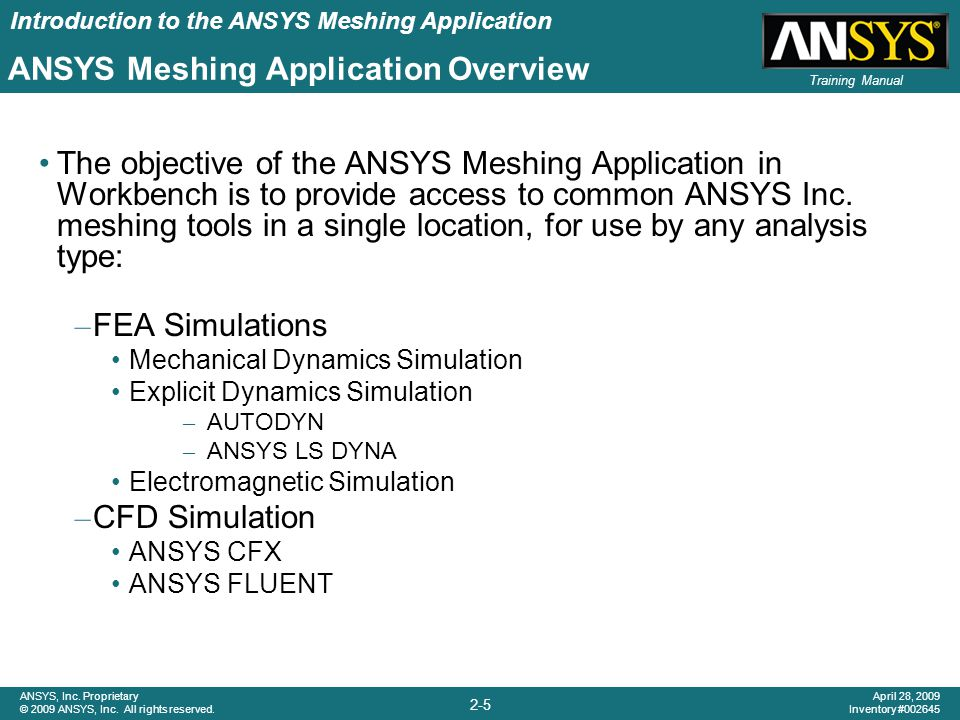 ANSYS Meshing Application Overview