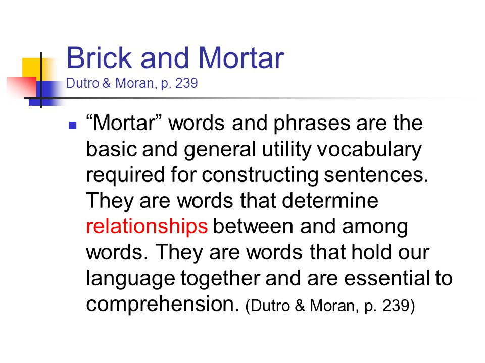 Brick and Mortar Dutro & Moran, p. 239