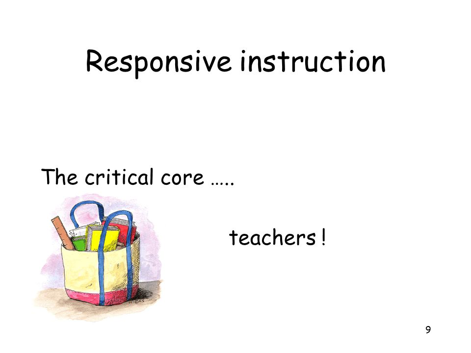 Responsive instruction