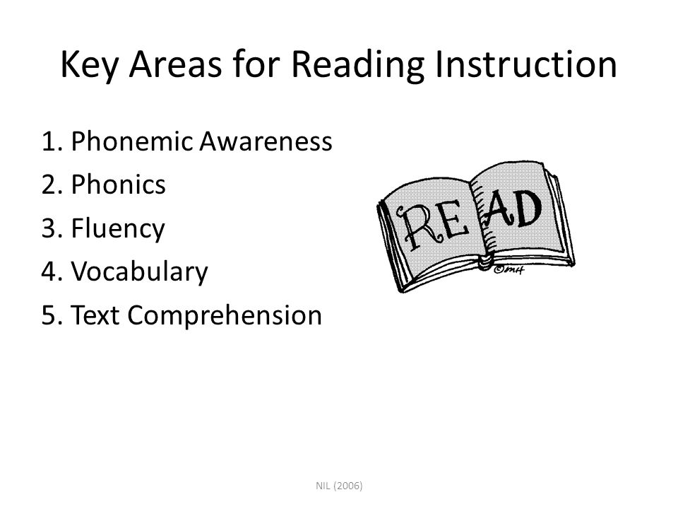 Key Areas for Reading Instruction
