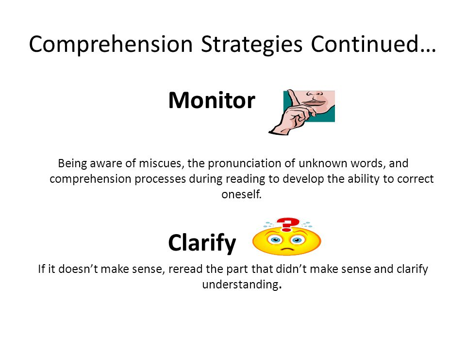 Comprehension Strategies Continued…