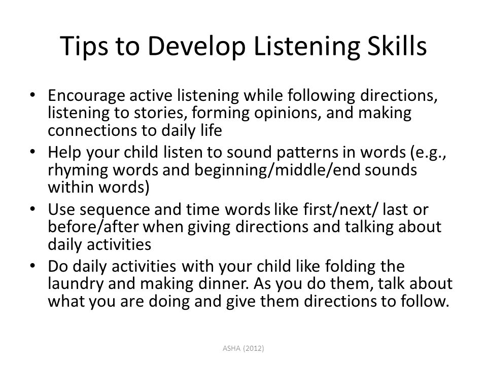 Tips to Develop Listening Skills
