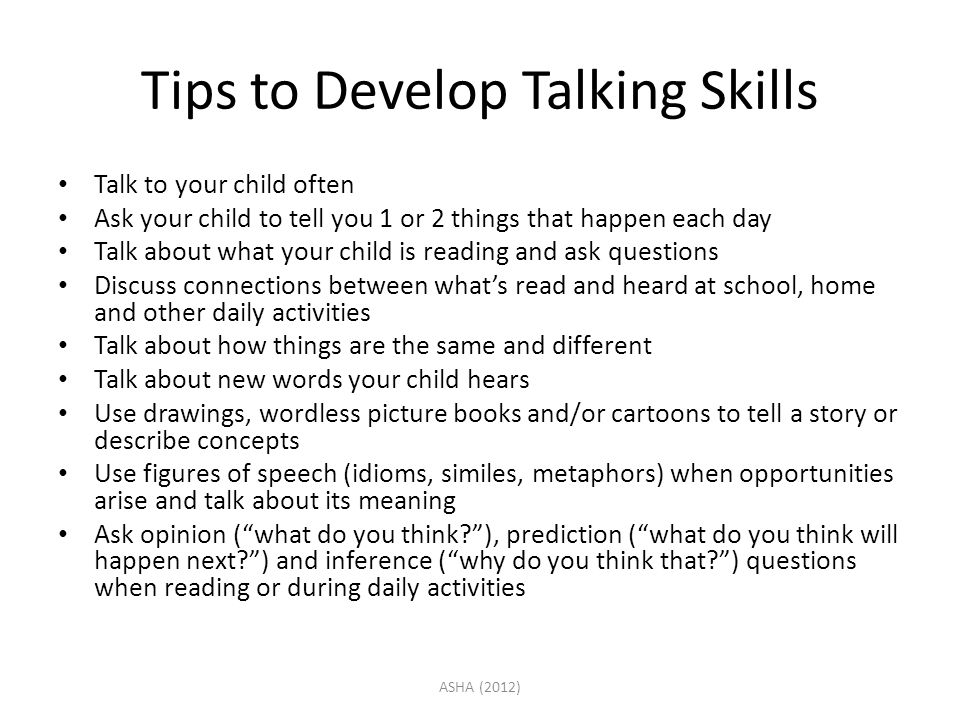 Tips to Develop Talking Skills