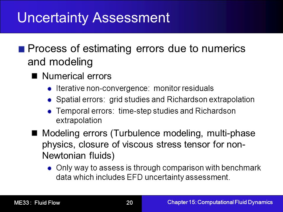 Uncertainty Assessment