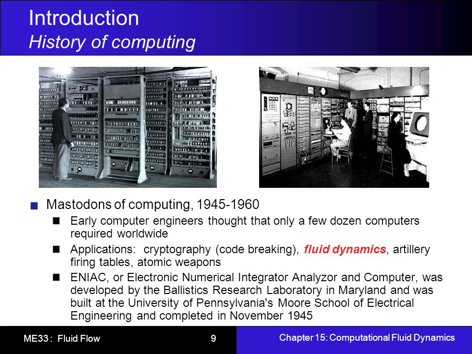 Introduction History of computing