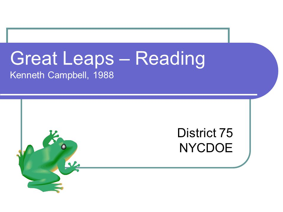 Great Leaps – Reading Kenneth Campbell, 1988