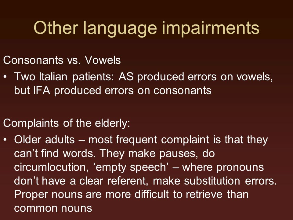 Other language impairments