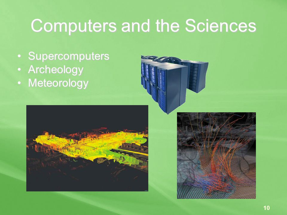 Computers and the Sciences
