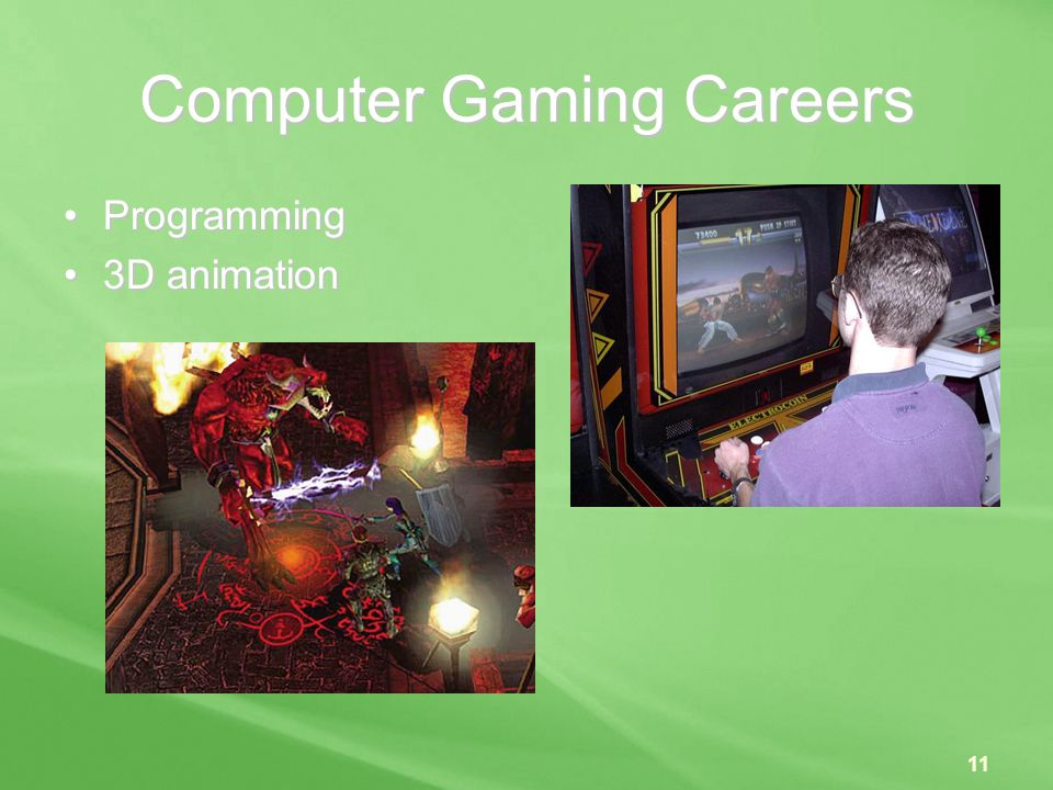 Computer Gaming Careers
