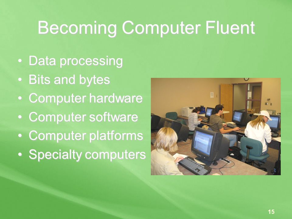 Becoming Computer Fluent