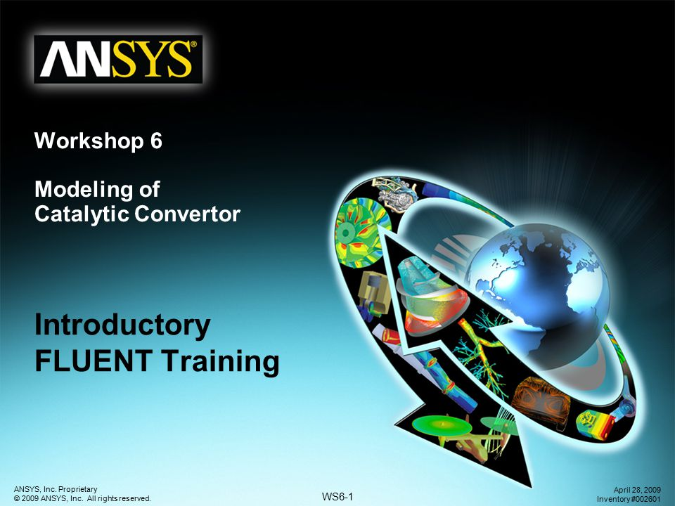 Workshop 6 Modeling of Catalytic Convertor