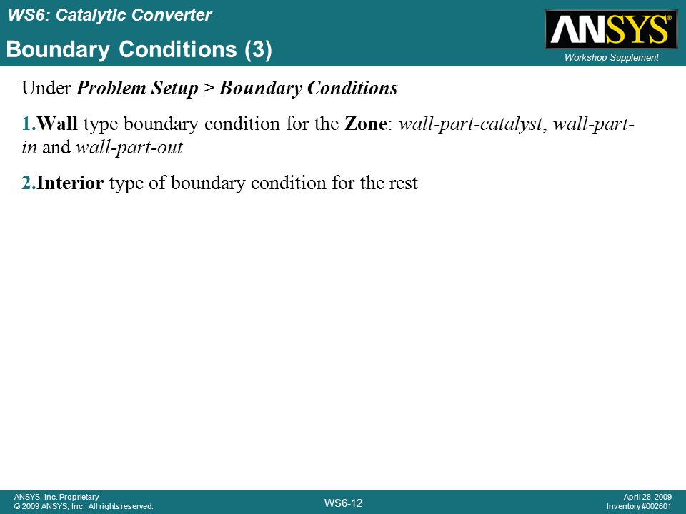 Boundary Conditions (3)