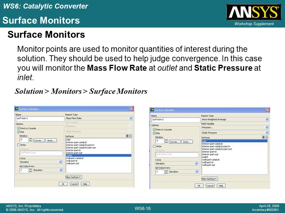 Surface Monitors Surface Monitors