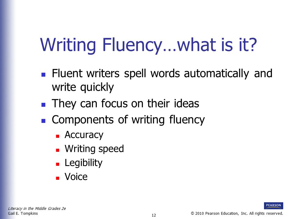 Writing Fluency…what is it