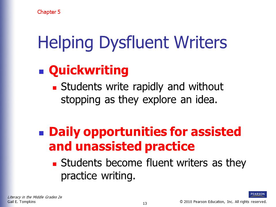 Helping Dysfluent Writers