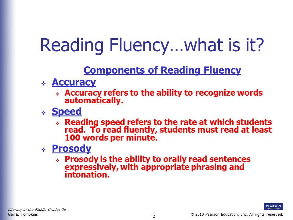 Reading Fluency…what is it