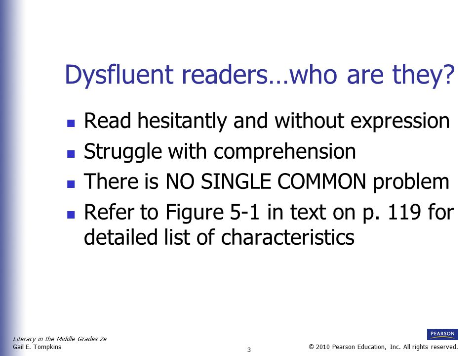 Dysfluent readers…who are they