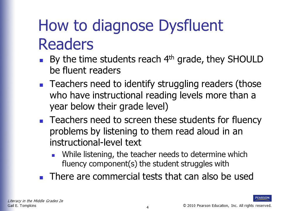 How to diagnose Dysfluent Readers
