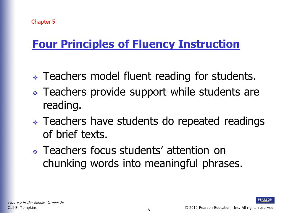 Four Principles of Fluency Instruction