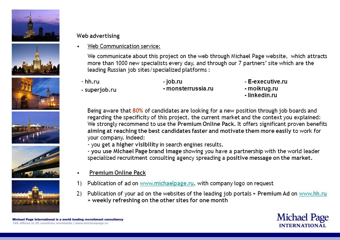Web advertising Web Communication service: