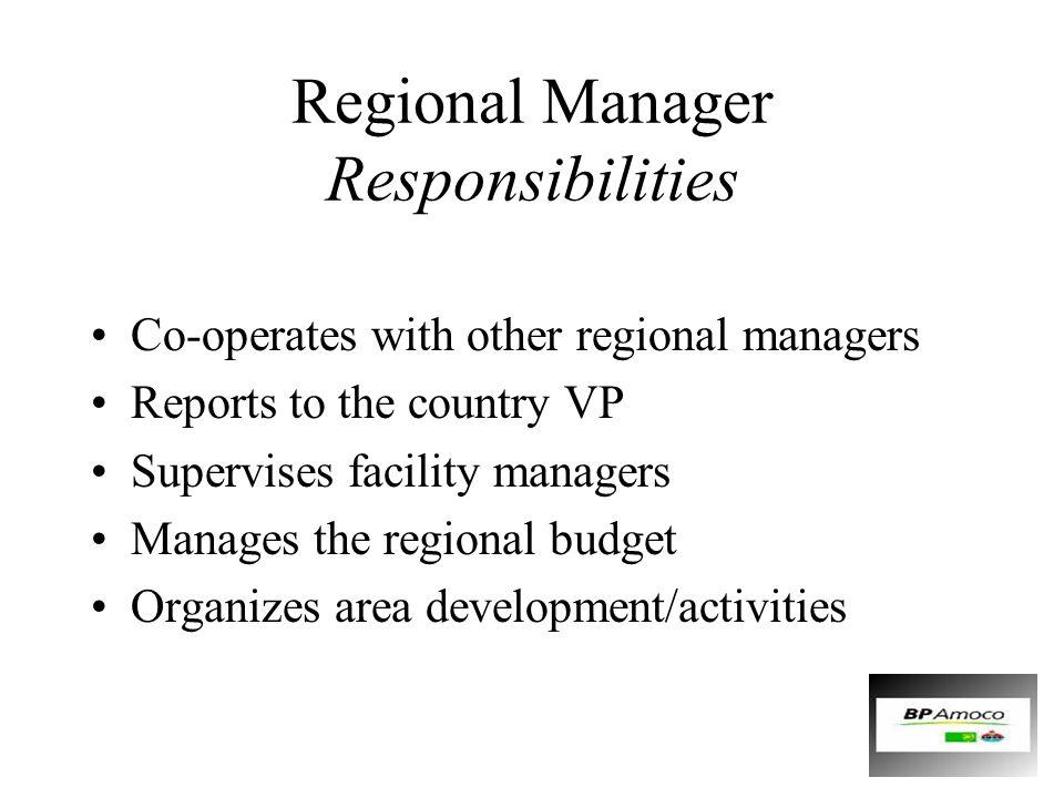 Regional Manager Responsibilities