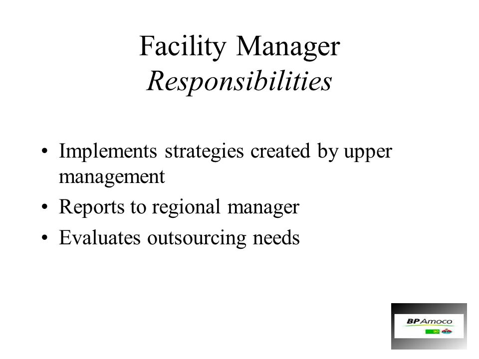 Facility Manager Responsibilities
